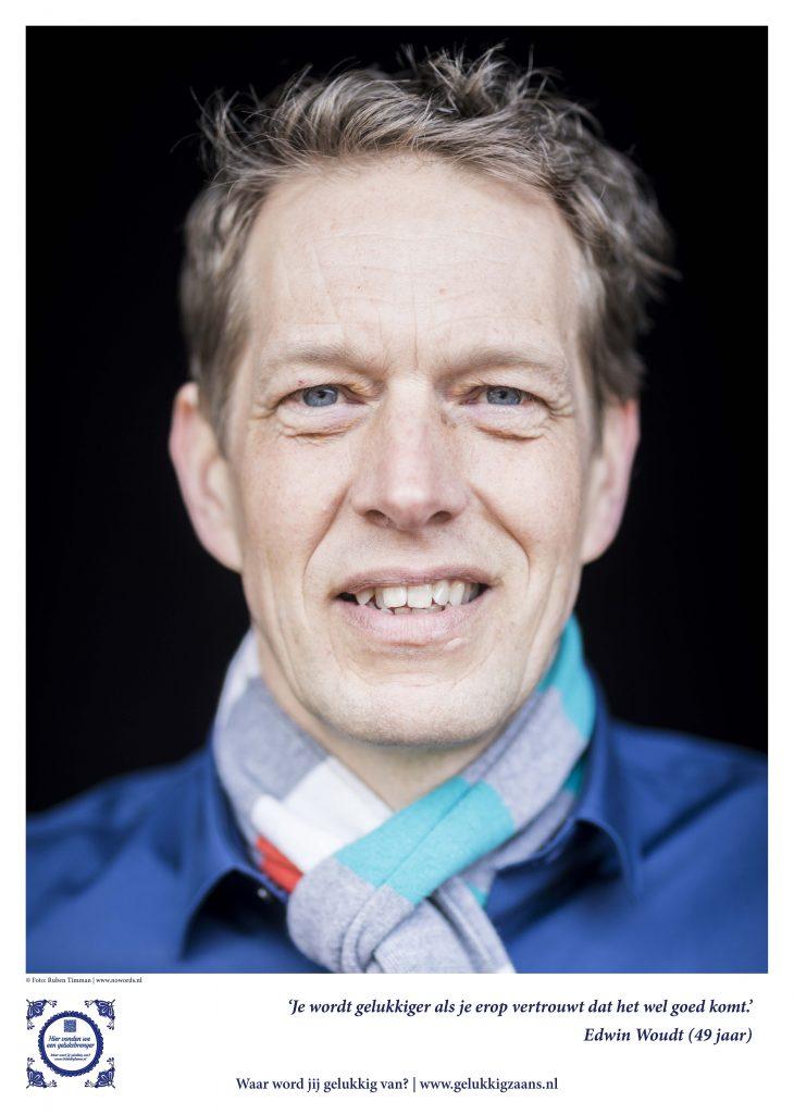 Foto Ruben Timman no words.nl Edwin Woudt heeft altijd glimlach om zijn mond