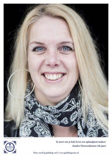 Geluksbrenger Sandra Nieuwenhuizen: 'Je kunt overal een positieve swing aan geven.'